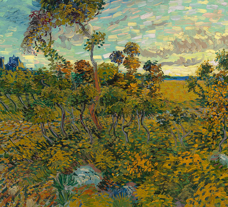 Sunset at Mountmajour Karya Van Gogh.