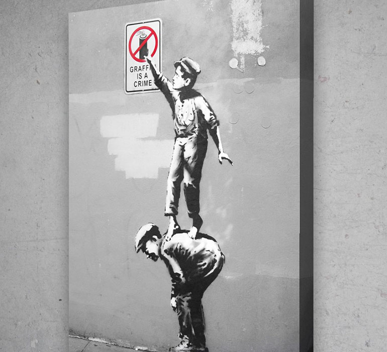 Graffiti is a crime, Bansky.