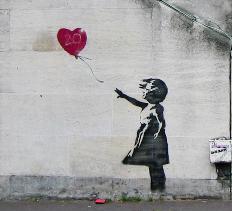 Girl with ballon, Bansky.